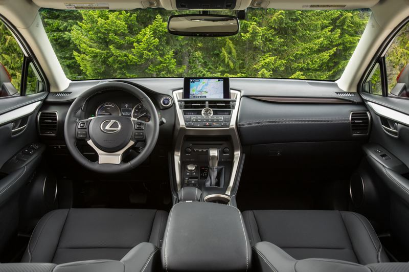 COURTESY LEXUS - The interior of the 2021 Lexus NX 300h features a bold design and high quality materials.