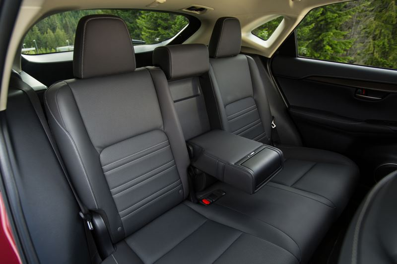 COURTESY LEXUS - The rear seats are surprisingly roomy in the 2021 Lexus NX 300h.