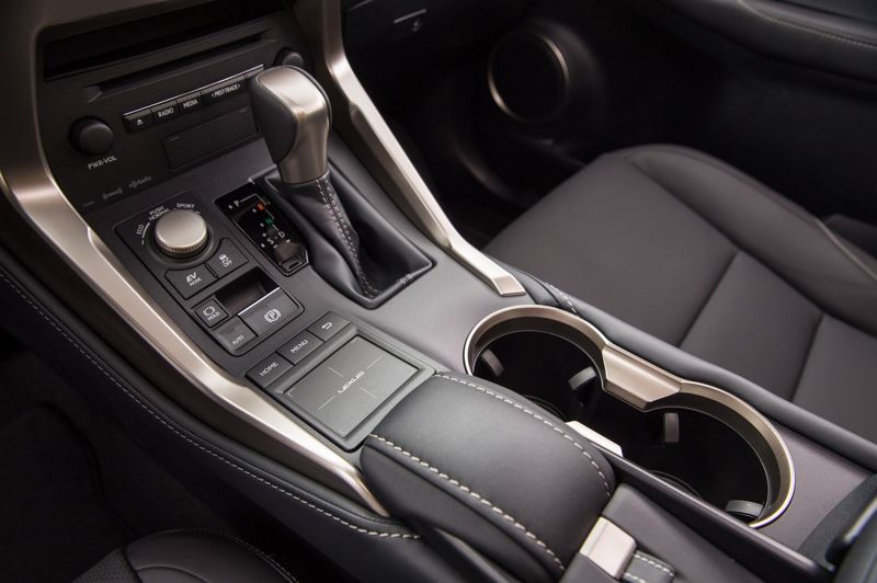 COURTESY LEXUS - The center console holds the keypad that controls much of the infotainment system in the 2021 Lexus NX 300h.