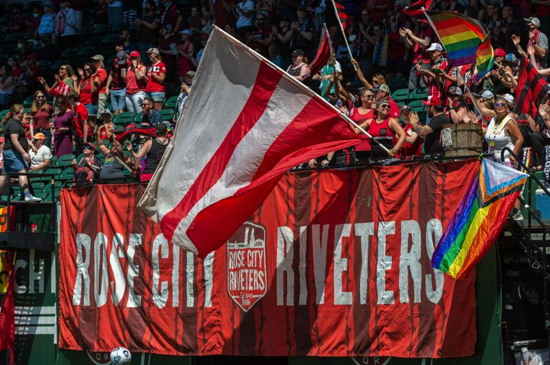 PMG PHOTO: DIEGO G. DIAZ - There were no goals, but supporters of the Portland Thorns enjoyed the opportunity to support their team on Sunday, July 11 as Providence Park was open without restrictions for the first time since the COVID-19 pandemic began.