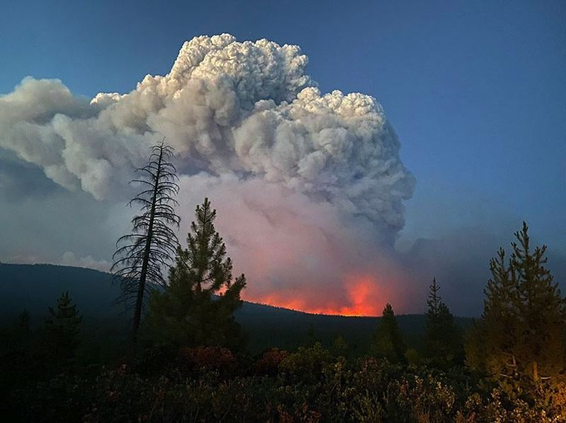 COURTESY PHOTO - The Bootleg Fire spans 153,535 acres on the Fremont-Winema National Forest.