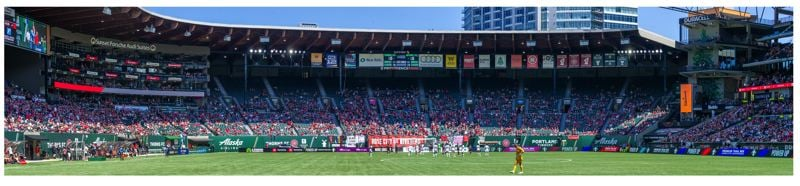 PMG PHOTO: DIEGO G. DIAZ - On the first opportunity to fill Providence Park since COVID-19, almost 15,000 fans showed up to watch the Thorns take on Gotham FC on Sunday, July 11.