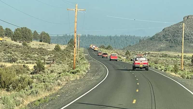 COURTESY PHOTO: TUALATIN VALLEY FIRE & RESCUE - TVF&R firefighters deployed with the crews from the Oregon State Fire Marshal to the Bootleg Fire in Klamath Fire on Saturday, July 10.