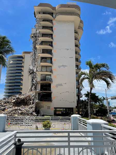 COURTESY: TVF&R - The International Association of Firefighters requested the services of Tualatin Valley Firefighters' Peer Support Team to help first-responders in the aftermath of the Surfside condominium building collapse.