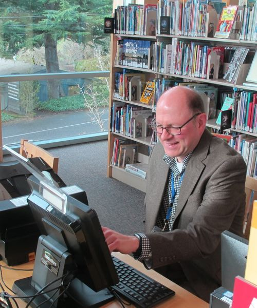 PMG FILE PHOTO - Hillsdale Library Branch Manager Jay Hadley, pictured here in 2019.