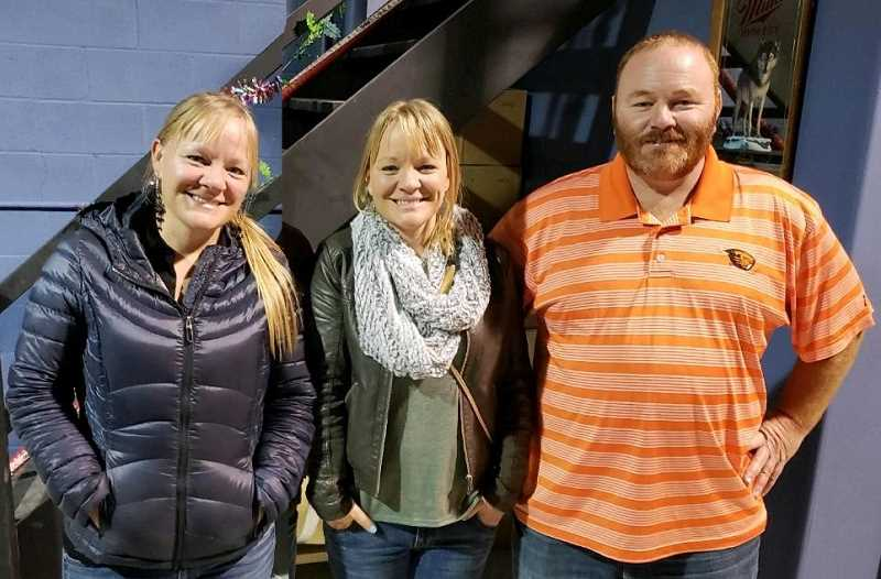 SUBMITTED PHOTO  - From left, identical twins Sara Vollmer and Nita Bozarth, and their brother, John Campbell. The trio are from a longtime Agency Plains farming family, and all three work as ag teachers in various locations in Oregon.