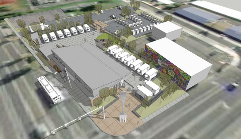 COURTESY RENDERING: P&C CONSTRUCTION - The Fairview Food Plaza should open by the end of the year.