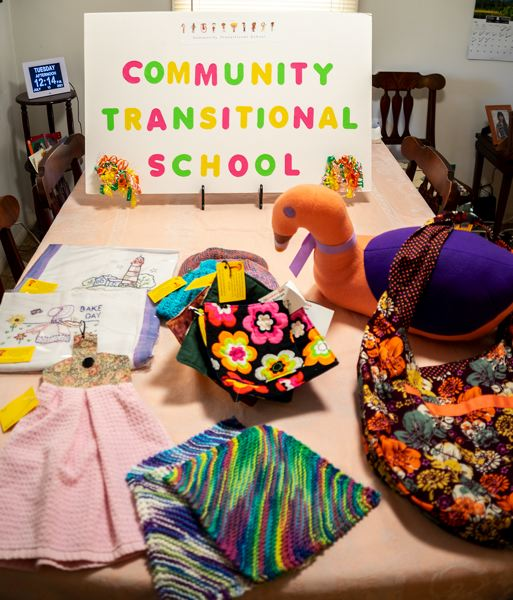 PMG PHOTO: CLARA HOWELL  - Various artists donate handmade items to sell at the upcoming Farmers Market.