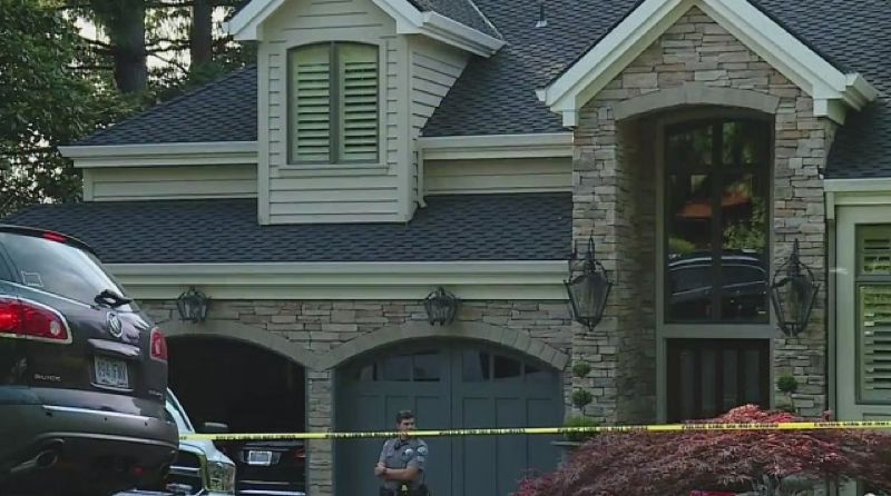 KOIN 6 NEWS PHOTO - A 74-year-old woman was brutally attacked in the garage of her Lake Oswego home, July 30, 2020, according to police.