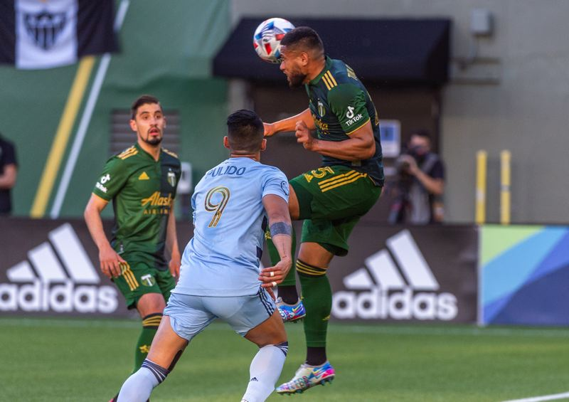 PMG PHOTO: DIEGO G. DIAZ - Portland Timbers defender Bill Tuiloma enjoys the physical challenges that come with playing central defender.