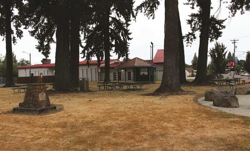 PMG PHOTO: SANDY STOREY - The city of Molalla already has begun conserving water. One such way has been to stop watering in city parks.