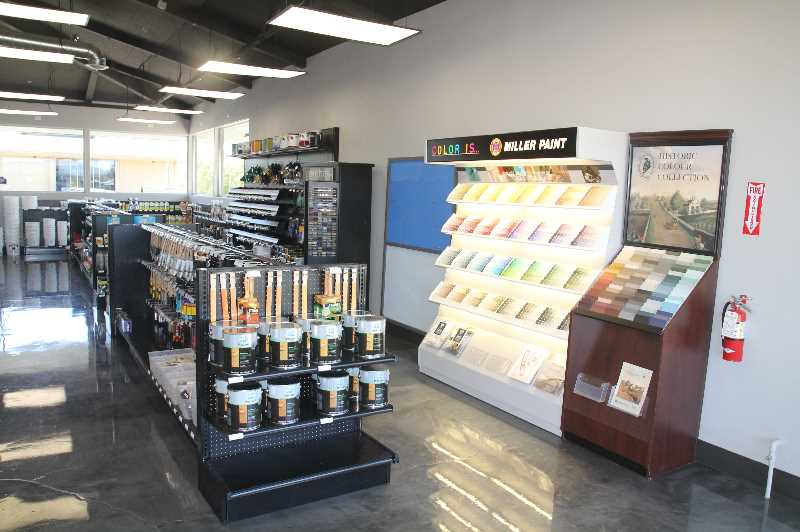 PMG PHOTO: JUSTIN MUCH - Miller Paint officials said their new low-footprint stores, located in Woodburn and Battle Ground, Washington, will focus on specific commercial and retail needs of their respective areas.