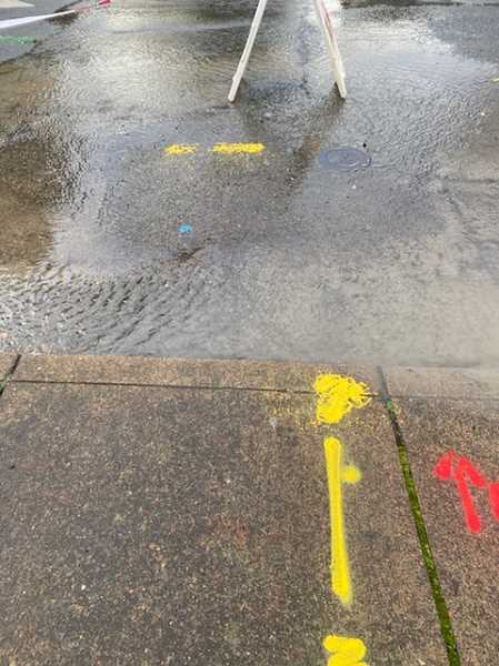 COURTESY PHOTO: PORTLAND WATER BUREAU - What you don't want: Burst water mains are a problem with aging infrastructure, so the Portland Water Bureau is trying to stay ahead of the failure of decades of pipe laid in the early 20th century.