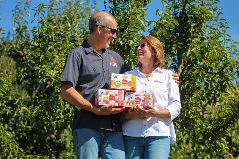 COURTESY PHOTO - Portland Cider Company owners Jeff and Lynda Parrish.