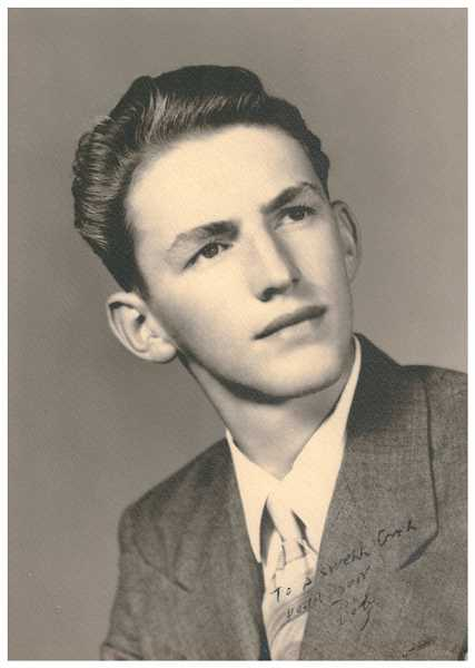 COURTESY PHOTO - Cliff Bauer, who went by Bob when he grew up in St. Helens, in a high school graduation photo from 1950.