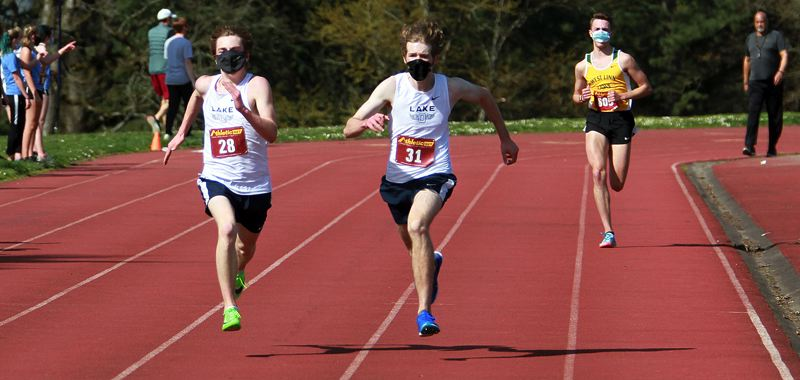 PMG FILE PHOTO - Lake Oswego's Leo Cook and Nate Foster; West Linn's Jaiden Fishbein
