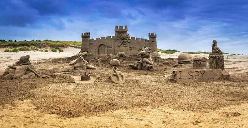 COURTESY PHOTO: CITY OF ST. HELENS - A sand sculpture by Wade and Brittany Lapp