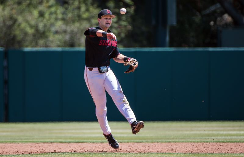 COURTESY PHOTO: KAREN HICKEY/ISIPHOTOS - During his four years at Stanford, Tim Tawa played several defensive positions, with most of his senior year spent at second base.