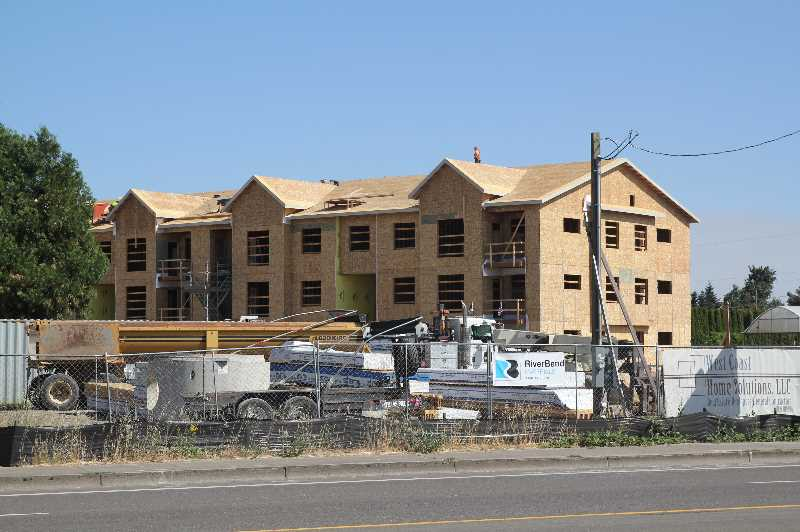 PMG PHOTO: JUSTIN MUCH - Multi-family housing units stand to increase with Woodburns robust construction activity, like the 204-unit Pacific Valley Apartments.