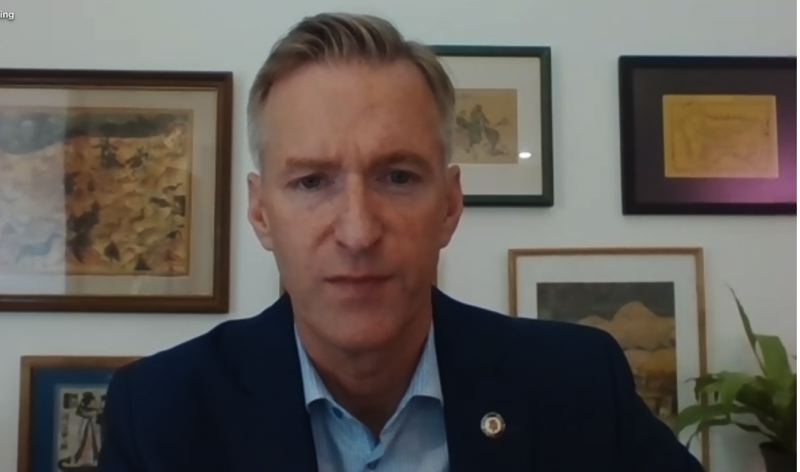 PMG SCREENSHOT - Portland Mayor Ted Wheeler addressed deadly gun violence during a virtual news conference Saturday, June 17.