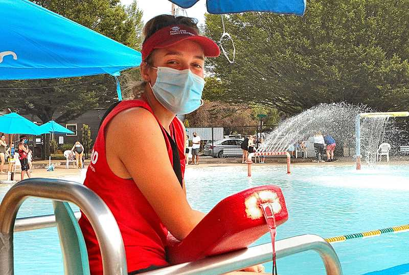 DAVID F. ASHTON - California Lutheran University student Seal Gosnell said she enjoys being home for the summer and working as a lifeguard at the Sellwood Pool.