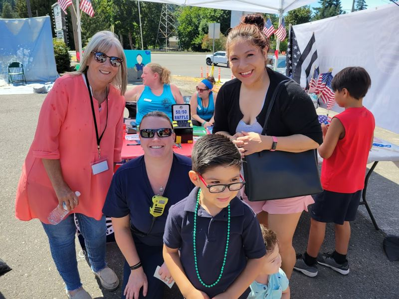 COURTESY PHOTO: MARY WHITNEY - Estacada community members gathered to honor first responders on Saturday, July 17.