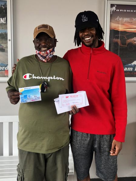 COURTESY PHOTO: GRESHAM FORD - Michael Teddy, a veteran, won a $100 gift card to Whites Meats.