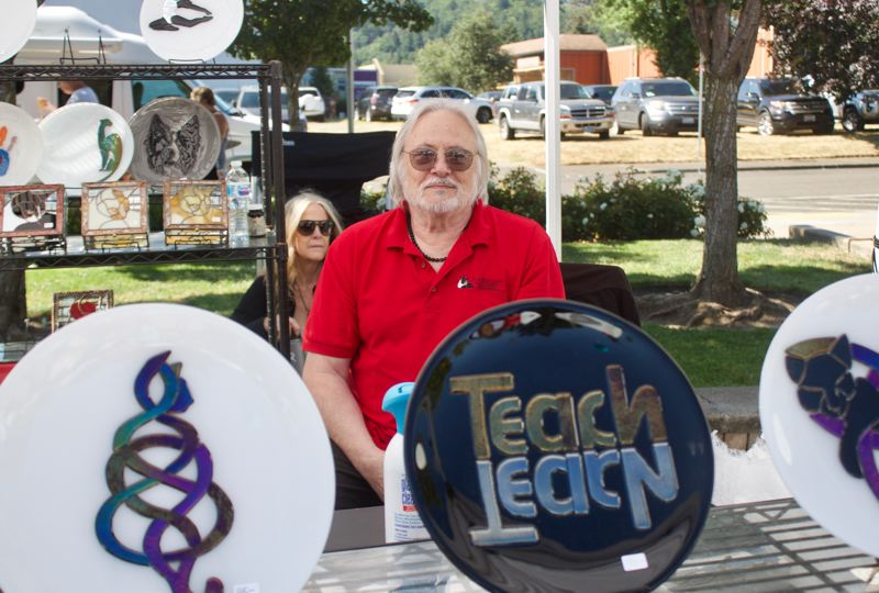 PMG PHOTO: CHRISTOPHER KEIZUR - This was Joe Bennetts eighth year running a booth at the Gresham Arts Festival.