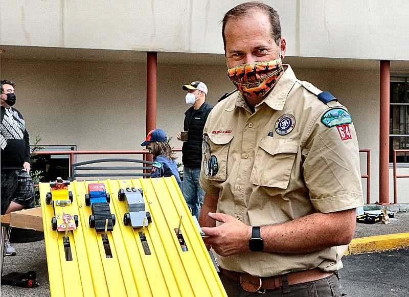 Cub Scouts hold annual 'Pinewood Derby' late - and outdoors