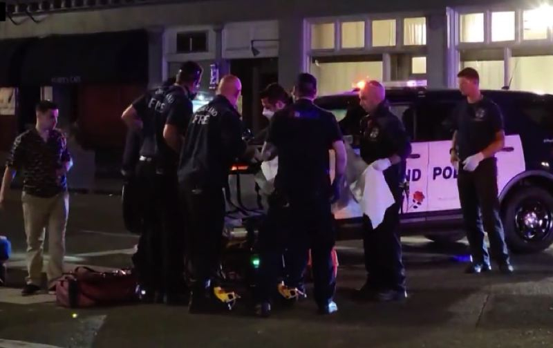 COURTESY PHOTO: KOIN 6 NEWS - The scene of the early Saturday shooting.