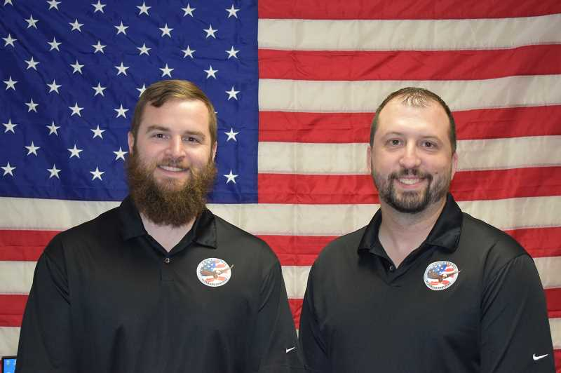 RAMONA MCCALLISTER - Erik Nelson, ACVSO for the Crook County Veterans Office is shown on the left; Adam Williams, Executive Director for the Crook County Veterans Office, is shown on the right.