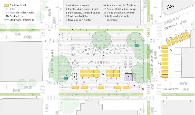 COURTESY GRAPHIC: HENNEBERY EDDY ARCHITECTS  - Design ideas from Henneberry Architects whose office looks over O'Bryant Square.