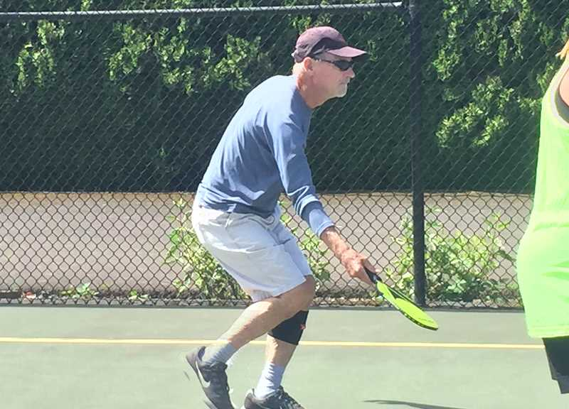 COURTESY PHOTO: DONNA STONE - Lee Stone is one of several Woodburn area locals who have started playing pickleball.