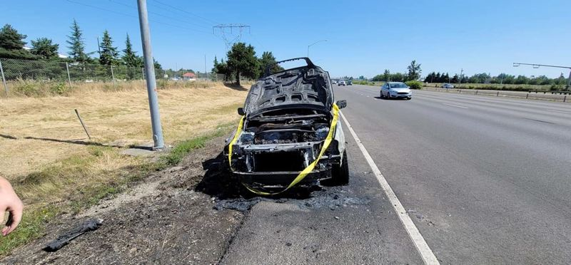 COURTESY PHOTO - In July, the Dodson family's Volvo XC90, their only way of transporting Stephanie's wheelchair, was totaled after catching on fire.