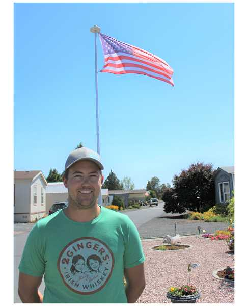 PAT KRUIS/MADRAS PIONEER  - Developer Riley Shannon at Mt. View Mobile Home Park south of Redmond, part of the holdings of Ridge Development. Shannon and his father, Robert, say they take pride in the way their parks look and are managed.