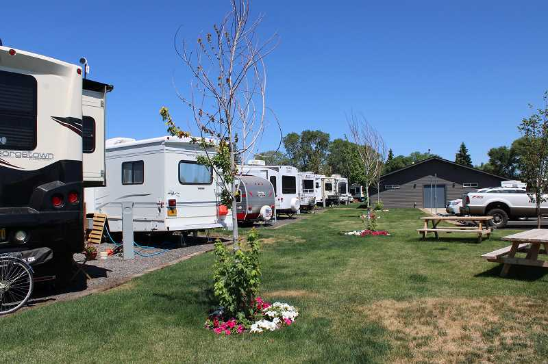 PAT KRUIS/MADRAS PIONEER  - Ridge Development says the RV park proposed for Culver would follow the design of Cottonwood RV Park in Redmond except they plan to make spaces larger in Orchard RV Park in Culver.