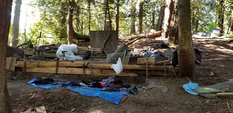 COURTESY PHOTO - Metro's Newell Creek Canyon in Oregon City has seen an increase in environmental damage due to illegal camping.
