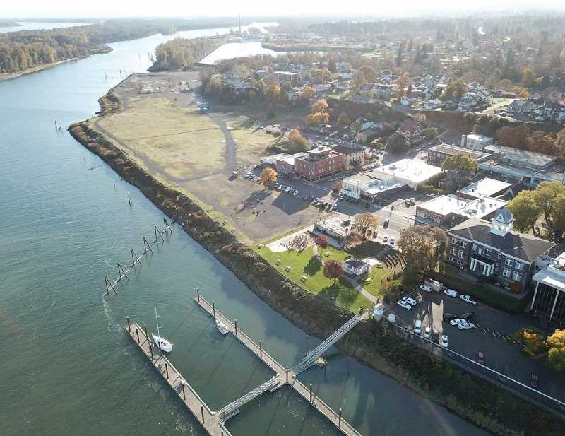 COURTESY PHOTO: CITY OF ST. HELENS - The Columbia River will be far more accesible to citizens when the Riverwalk is completed.