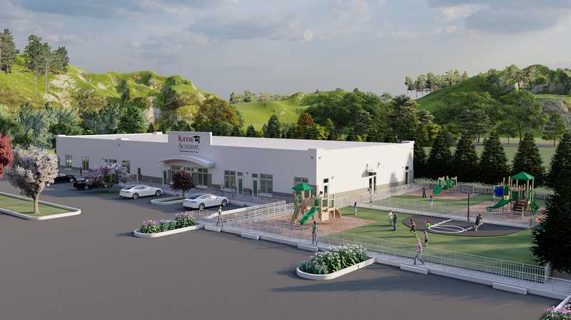 COURTESY CIDA ARCHITECTURE - The 10,800-square-foot Kiddie Academy, designed by CIDA Architecture of Tigard, is expected to open in January 2022.