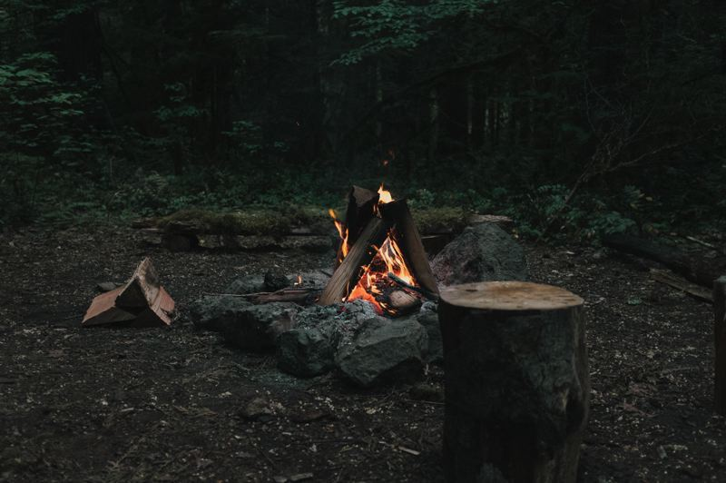 FILE  - Campfire are currently prohibited in Oregon state forests and parks east of Interstate 5.