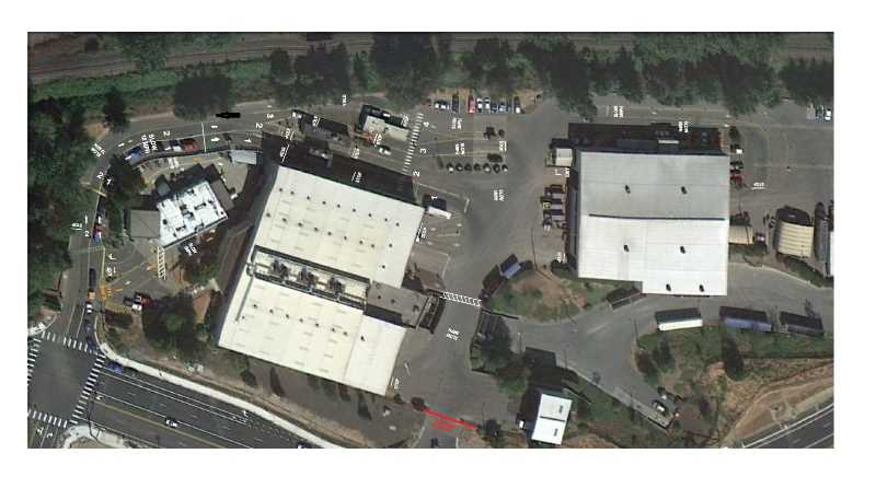PHOTO COURTESY: METRO - A bird's eye view of Metro South Transfer Station shows where citizens enter and exit in their vehicles with trash to drop off.