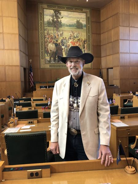 CAMPAIGN PHOTO - Rep. Gary Leif poses for a photo inside the Oregon Capitol in 2018.