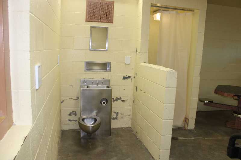 PAT KRUIS/MADRAS PIONEER - Water in the jail bathrooms often ran brown, with barely a dribble coming from the showerheads. Jail inmates and staff spent the summer of 2020 without air conditioning.