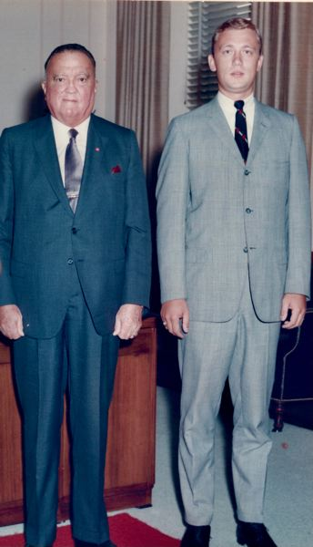 COURTESY PHOTO: PAUL LETERSKY - Paul Letersky (right) stands next to J. Edgar Hoover, the former FBI director, in the 1960s.