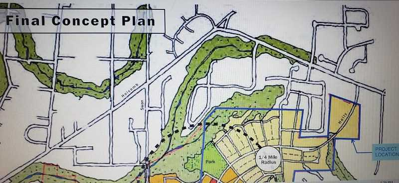 COURTESY PHOTO: CITY OF OREGON CITY - Icon Construction's master plan proposes 257 homes in the Park Place Neighborhood.