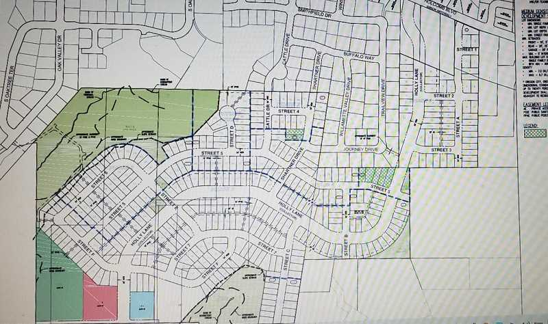 COURTESY PHOTO: CITY OF OREGON CITY - Icon Construction's master plan proposes 403 homes in the Park Place neighborhood.