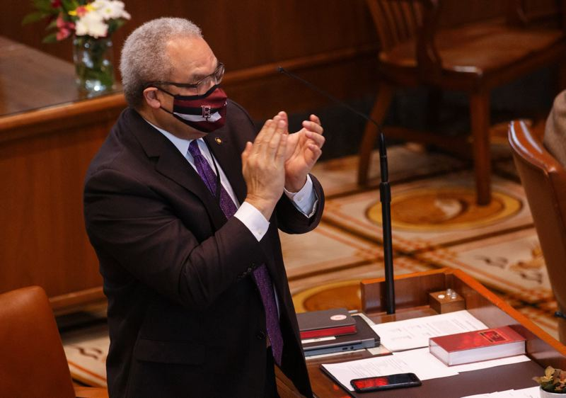 PMG FILE PHOTO - Oregon State Sen. Lew Frederick is a critic of online charter schools and a former member of the state Board of Education.