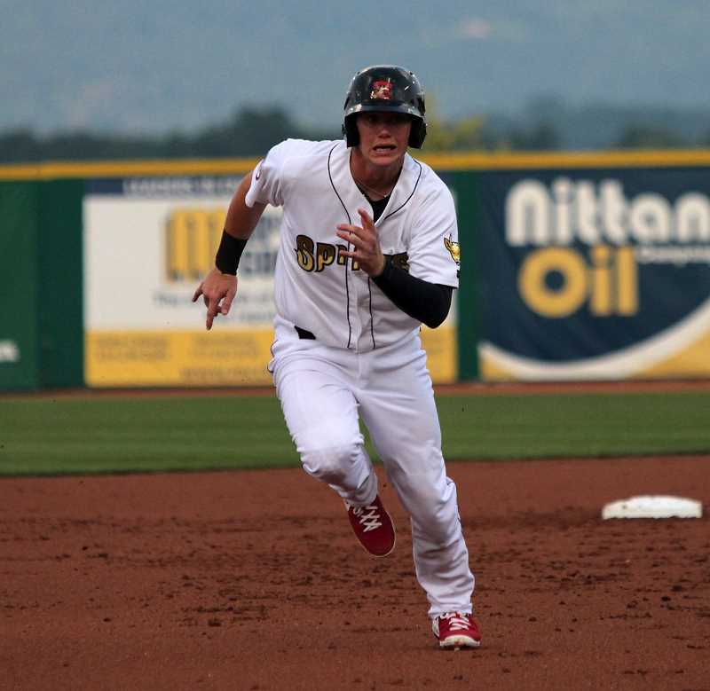 COURTESY PHOTO: JOE PUTNAM STATE COLLEGE SPIKES - Former Westview Wildcat and current Arizona Diamonback Carson Kelly will be playing for the Hops as part of a rehab assignment July 27 & 28.