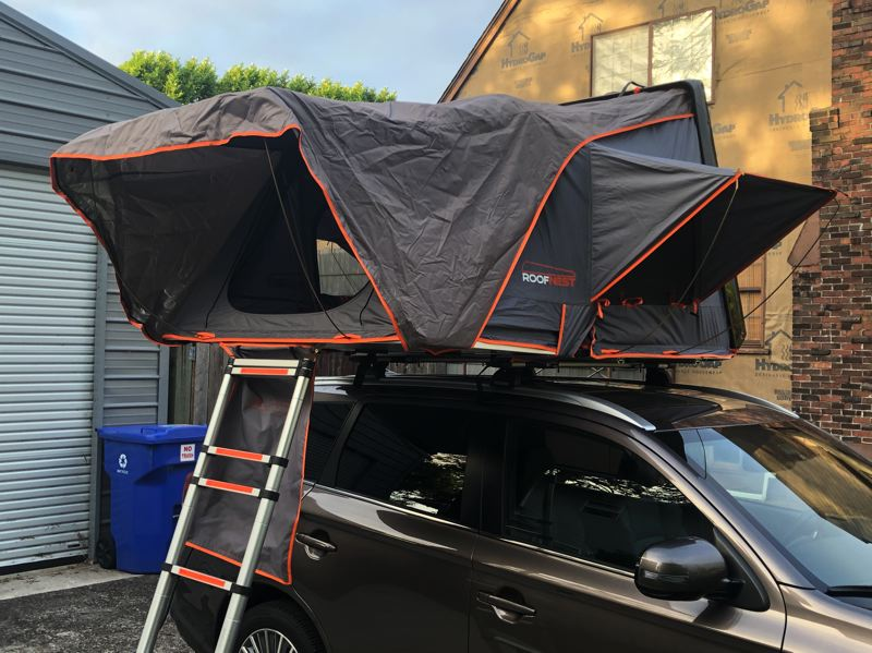PMG PHOTO: JEFF ZURSCHMEIDE - The Roofnest Condorondor quickly and easily expands into a tent large enough for a small family.