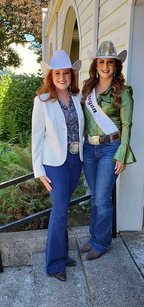 COURTESY PHOTO: MRO - Avalon Irwin, of Bend, is pictured next to current Miss Rodeo Oregon Samantha Henricks. Irwin will compete for the 2022 title.